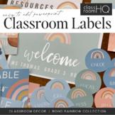 Modern BOHO RAINBOW Classroom Labels + Signs Pack