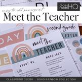 Modern BOHO RAINBOW Meet The Teacher + Newsletter Templates