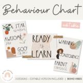 Modern BOHO VIBES Behaviour Chart - Editable   Desert Neutral Classroom Decor