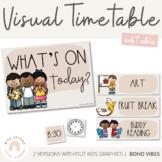 Modern BOHO VIBES Visual Timetable   Desert Neutral Classroom Decor