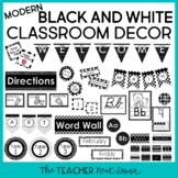 Modern Black and White Classroom Decor