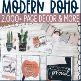 Modern Boho Classroom Decor & More Collection