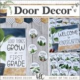 Modern Boho DOOR DECOR | EDITABLE