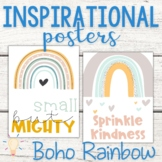 Modern Boho Pastel Rainbow Inspirational Posters