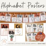 Modern BOHO VIBES Alphabet Posters | Neutral Classroom Decor