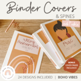 Modern BOHO VIBES Binder Covers and Spines | Editable