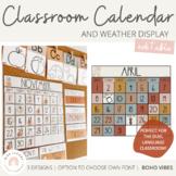 Modern BOHO VIBES Classroom Calendar | Editable | Desert Neutrals Class Decor