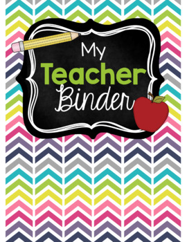 Modern Chevron Teacher Binder {2017-2018}