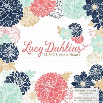 Modern Chic Dahlia Clipart