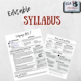 EDITABLE Modern Clean Syllabus Template