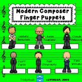 Modern Composer Finger Puppets (for listening)