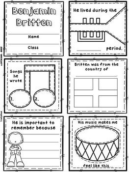 Modern Composers Quilt Worksheets (Set 2)
