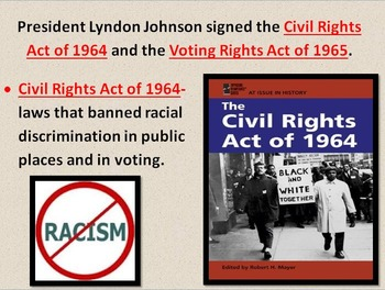 Modern Culture: 20th Century Civil Rights Movement POWERPOINT W/NOTES