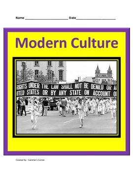 Modern Culture:  20th Century Civil Rights Movement Study Guide