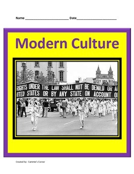 Modern Culture:  20th Century Civil Rights Movement Study Guide
