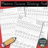 Modern Cursive Writing Pack - Handwriting Practice {D'Nealian Cursive}