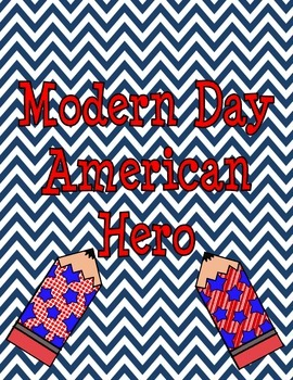 Modern Day American Hero Third Grade Art Project