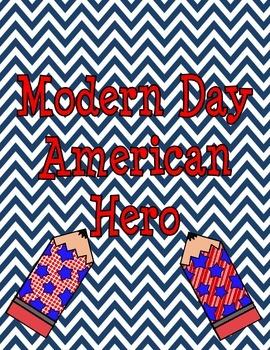 Modern Day American Hero Third Grade Art Project