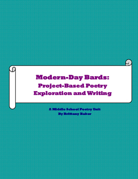 Modern-Day Bards: Project-Based Poetry Exploration and Writing Unit