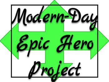 Create A Epic Hero Teaching Resources  Teachers Pay Teachers  Modernday Epic Hero Project