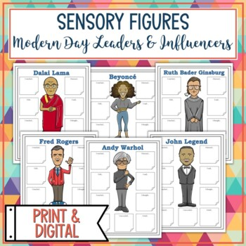 Modern Day Leaders and Influencers Sensory Figure Body Biographies