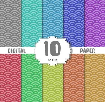 Modern Digital Paper, paper crafts, card making, scrapbooking