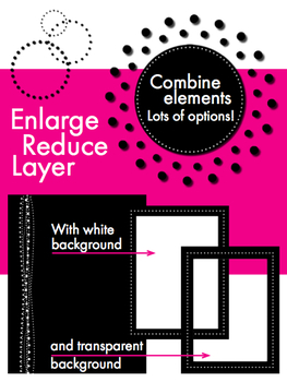 Modern Dots, Sophisticated Clip Art, Borders & Backgrounds – Easy Printing