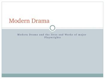 Modern Drama Powerpoint