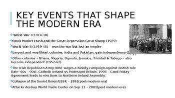 Modern Era - 20th century and beyond (British)
