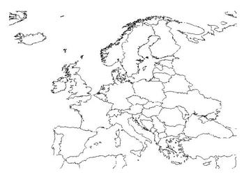 Modern European Map Label Activity