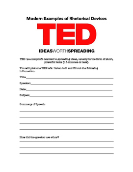 Modern Examples of Rhetorical Devices: TED Talks