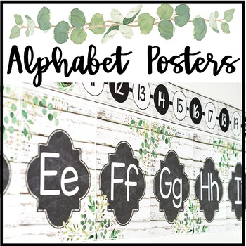 Modern Farmhouse Alphabet Posters