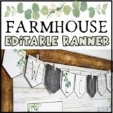 Modern Farmhouse Editable Banner