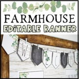 Modern Farmhouse Editable Banner