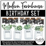 Modern Farmhouse Birthday Board Set (Editable)