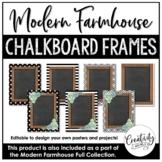 Modern Farmhouse Chalkboard Frames (Editable)
