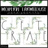 Modern Farmhouse Classroom Decor   Decorative Word Posters