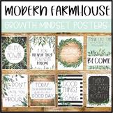 Modern Farmhouse Classroom Decor | Growth Mindset Posters