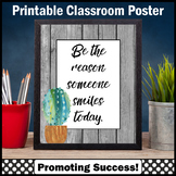 Modern Farmhouse Classroom Decor, Succulents Be the Reason Someone Smiles Today