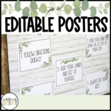 Modern Farmhouse Editable Posters