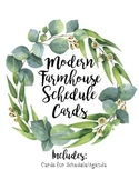 Modern Farmhouse Schedule Cards