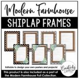 Modern Farmhouse Shiplap Frames (Editable)