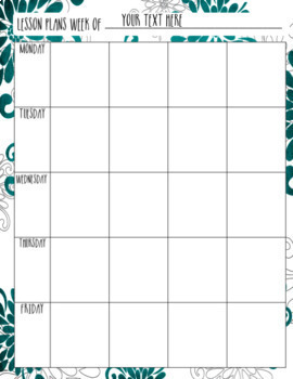 Floral Editable Teacher Binder / Lesson Planner 2018-2019 -Free Yearly Updates