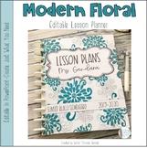 Floral Editable Teacher Binder / Lesson Planner 2018-2019
