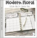 Modern Floral Planner Add-On Calendar Pack 2019-2020