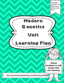 Modern Genetics Learning Plan NY Biology (The Living Environment)