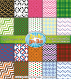 Modern Geometric Digital Scrapbook Pack (Holiday) — Includes 200 Pages!