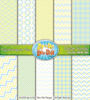 Modern Geometric Patterns Scrapbook Pack - Easter Sunday (