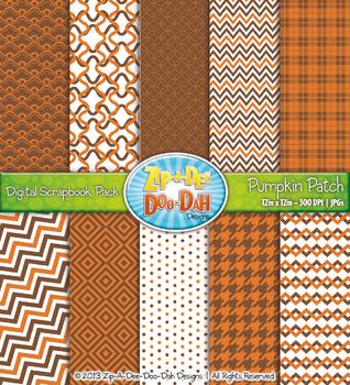 Modern Geometric Patterns Scrapbook Pack - Pumpkin Patch (