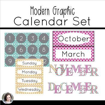 Modern Graphic Calendar Set